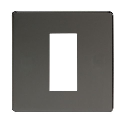 Varilight XDIG1S Screwless Iridium Black DataGrid Plate (1 DataGrid Space)